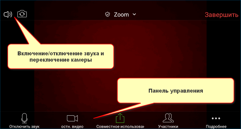 Интерфес Zoom