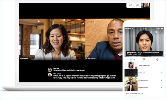 Работа с Google Meet на разных устройствах