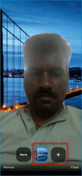 Выбор виртуального фона в мобильном Zoom